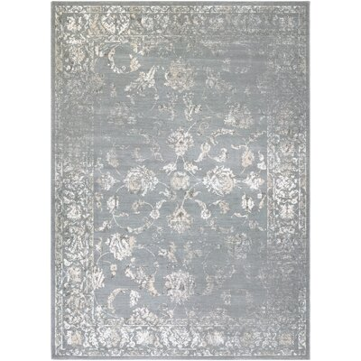 Nicolas Gray/Cream Area Rug Rug Size: 53 x 76