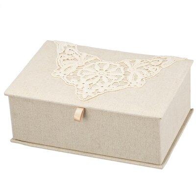 "3.5"" H x 10"" W x 7"" D Vintage Lace Jewellery Box OPCO2496 39830358"