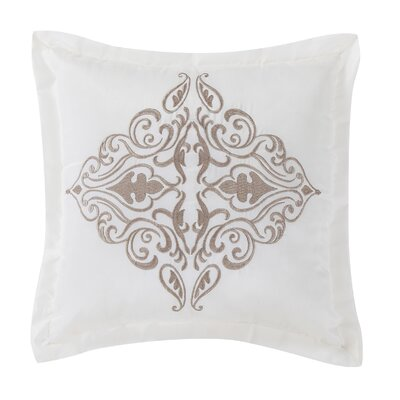Empress Square Throw Pillow Color: Taupe