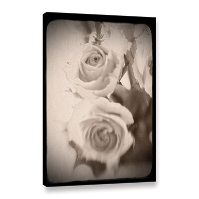 'Abstract Rose 1' Graphic Art on Wrapped Canvas Size: 12