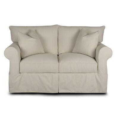 Paez Loveseat Upholstery: Classic Bleach