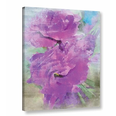 'Purple Flower 2' Painting Print on Canvas Size: 10