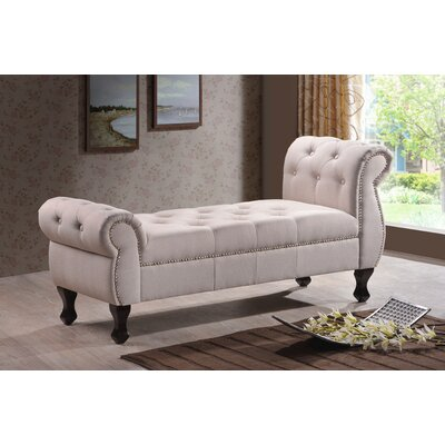 Sevan Upholstered Bedroom Bench Upholstery Color: Light Beige