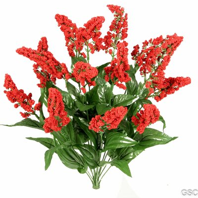 14 Stems Artificial Heather Fillers Bush and Greenery Color: Red