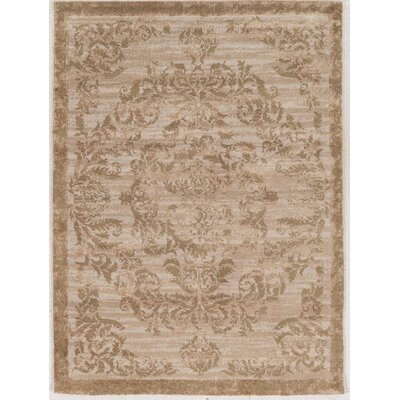 Pelletier Silk Hand-Tufted Gold Area Rug Rug Size: 8 x 10