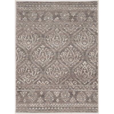 Feliciana�Traditional�Silk Hand-Tufted Gray Polyester Area Rug Rug Size: Rectangle 5 x 7
