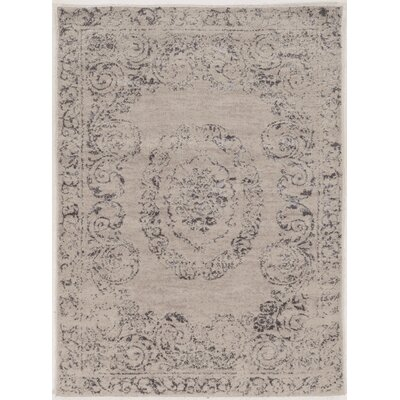 Feliciana� Silk Hand-Tufted Gray Area Rug Rug Size: Rectangle 5 x 7
