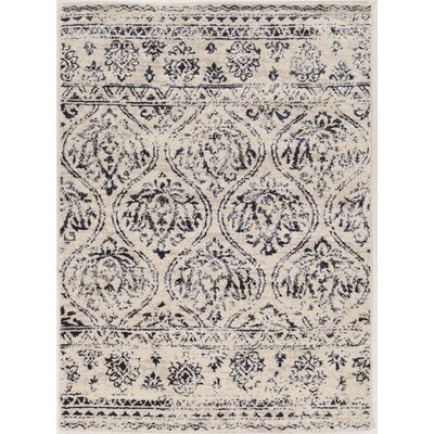 Feliciana� Silk Hand-Tufted Ivory Area Rug Rug Size: Rectangle 5 x 7