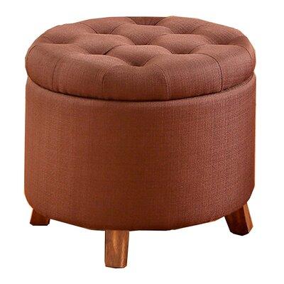 Palazzolo Storage Ottoman Upholstery: Chocolate