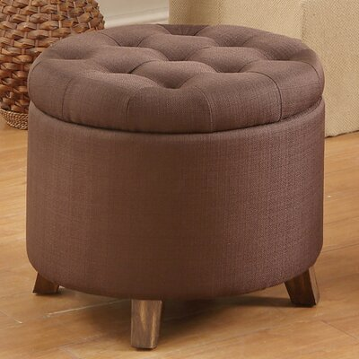 Ismenia Storage Ottoman Upholstery: Chocolate