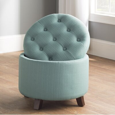Palazzolo Storage Ottoman Upholstery: Light Blue