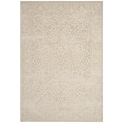 Forestburgh Beige/Ivory Area Rug Rug Size: Rectangle 51 x 76