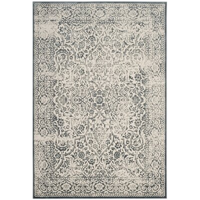 Forestburgh Blue/Ivory Area Rug Rug Size: Rectangle 51 x 76