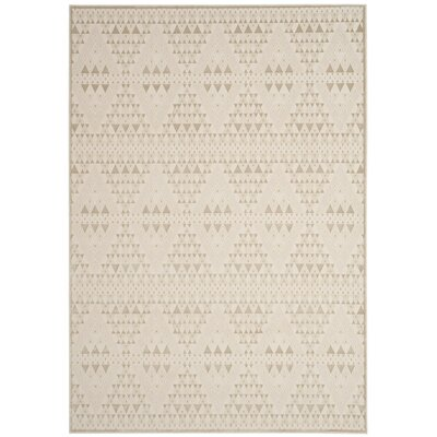 Ayanna Light Beige/Cream Area Rug Rug Size: Rectangle 51 x 76
