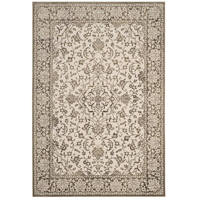 Forestburgh Brown/Cream Area Rug Rug Size: Rectangle 51 x 76