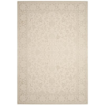 Forestburgh Light Beige/Cream Area Rug Rug Size: 51 x 76