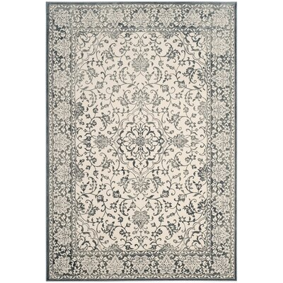 Forestburgh Dark Blue/Ivory Area Rug Rug Size: Rectangle 51 x 76