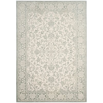 Forestburgh Light Blue/Ivory Area Rug Rug Size: 51 x 76