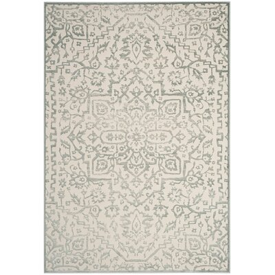 Forestburgh Oriental Light Blue/Ivory Area Rug Rug Size: 51 x 76