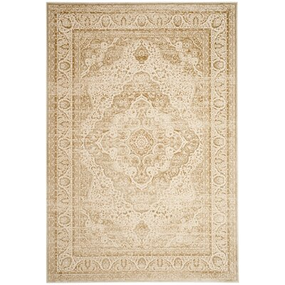 Forestburgh Rectangle Light Beige/Cream Area Rug Rug Size: Rectangle 51 x 76