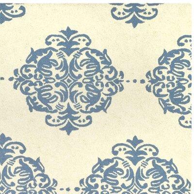 Eaton Ivory/Blue Area Rug Rug Size: Square 6'