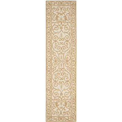 Pratt Ivory&Gold Area Rug Rug Size: Runner 26 x 10