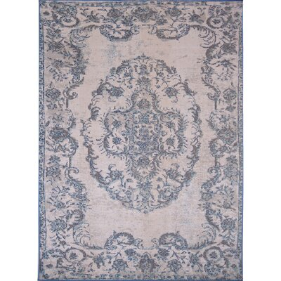 Palmisano Ivory/Blue Indoor/Outdoor Area Rug Rug Size: 5'2