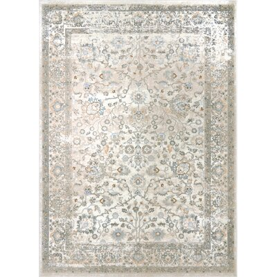 Palmore Ivory Area Rug Rug Size: 33 x 43