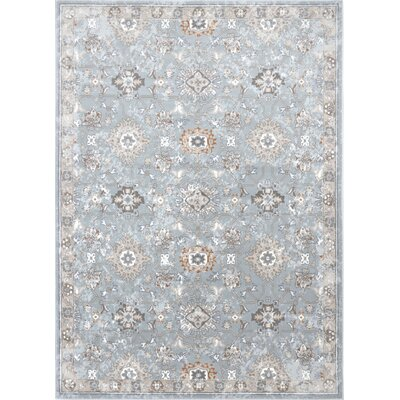 Georgiana Soft Blue Area Rug Rug Size: 33 x 43