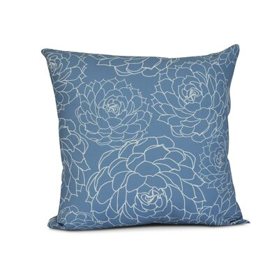 Palombo Print Throw Pillow Color: Blue, Size: 20 H x 20 W x 3 D