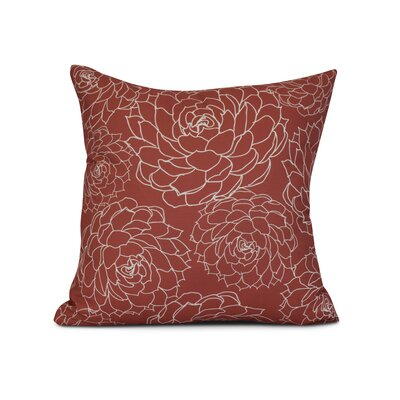 Palombo Print Throw Pillow Size: 26 H x 26 W x 3 D, Color: Orange