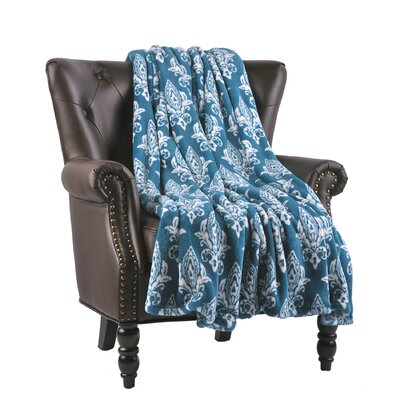 Biali Microfiber Flannel Blanket Color: Ocean Depths