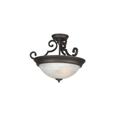 Bienville Three Arm Basic 2-Light Semi Flush Mount Color: Oiled Bronze