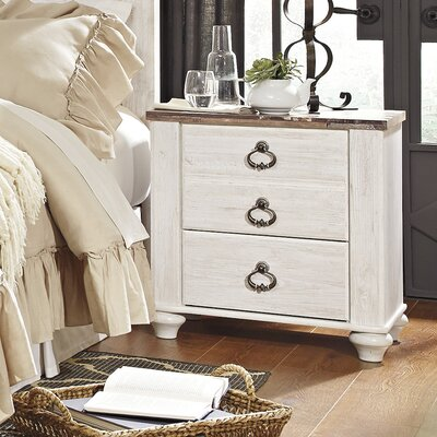 Pancoast 2 Drawer Nightstand