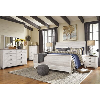 Naples Sleigh Customizable Bedroom Set