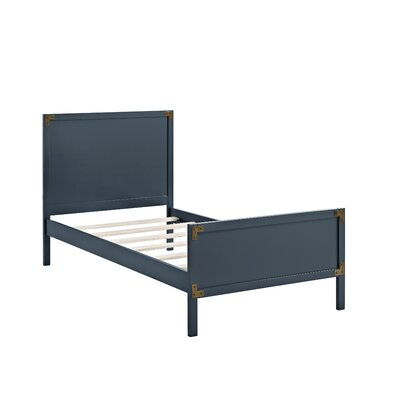 Bria Twin Panel Bed Finish: Graphite Blue