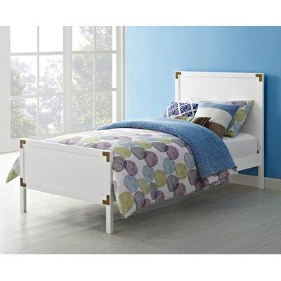 Bria Twin Platform Bed Color: White