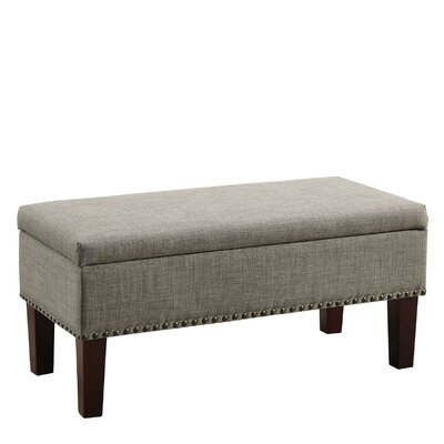 Pangle Storage Ottoman Upholstery: Gray
