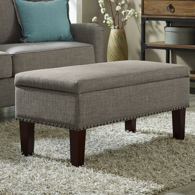 Beames Storage Ottoman Upholstery: Gray