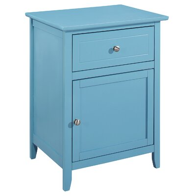 Hammond 1 Drawer Nightstand Color: Teal