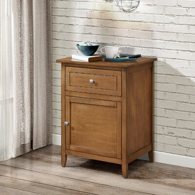 Hammond 1 Drawer Nightstand Finish: Light Walnut