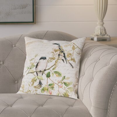 Sing Like Birds Poly-linen Throw Pillow