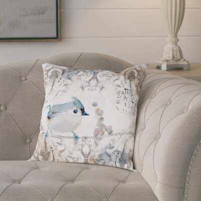Souci Singing in the Morning Poly-linen Throw Pillow