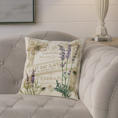 Smell of Lavender Poly-linen Throw Pillow