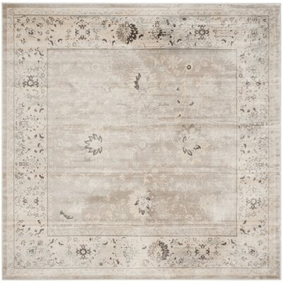 Talmont Light Gray/Ivory Area Rug Rug Size: Square 67