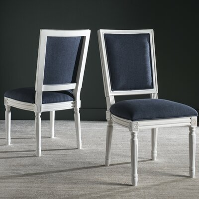 Elyas Side Chair Upholstery: Navy