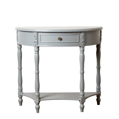 Paolini Console Table Color: Steel Blue