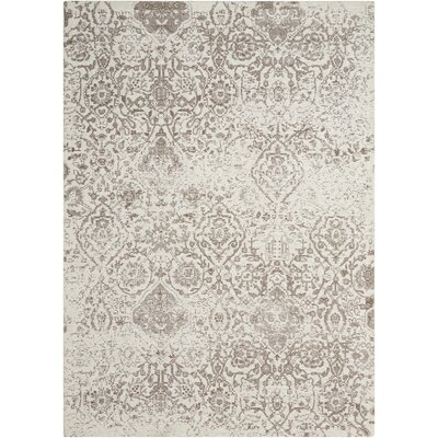 Simmons Ivory/Taupe Area Rug Rug Size: 5 x 7
