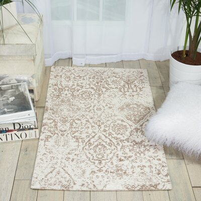 Simmons Ivory/Taupe Area Rug Rug Size: 23 x 39