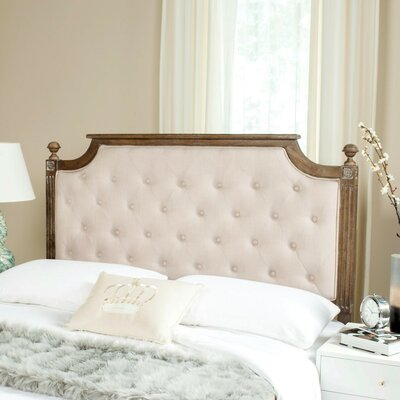 Parada Upholstered Panel Headboard Size: Twin, Color: Beige